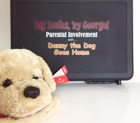 Take home briefcase and plush dog