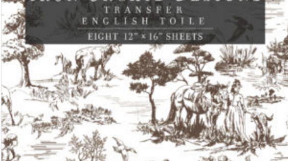 ENGLISH TOILE IOD TRANSFER 12×16 PAD™