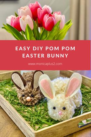 Easy DIY Pom Pom Easter Bunny