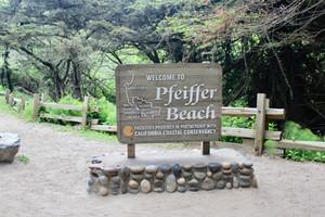 Pfeiffer Beach. The Purple Sand Beach in Big Sur