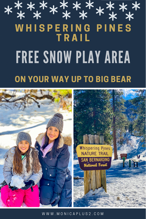 Whispering Pines Nature Trail- FREE Snow Play Area On Your Way Up To Big Bear