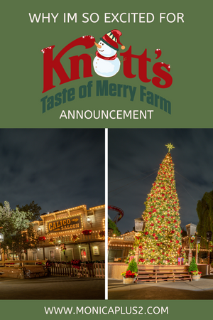 Why I'm so excited for Knott's Taste Of Merry Farm Announcement