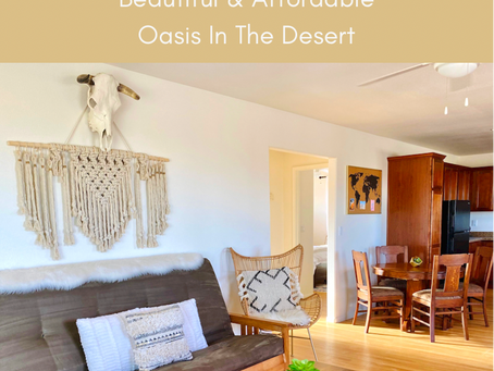 Perfect Airbnb For Your Next Joshua Tree National Park Visit- Beautiful & Affordable.