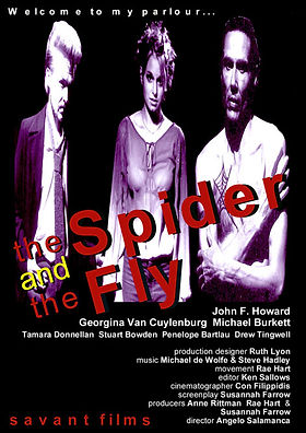 Poster for the short film called The Spider and The Fly... A Fable.