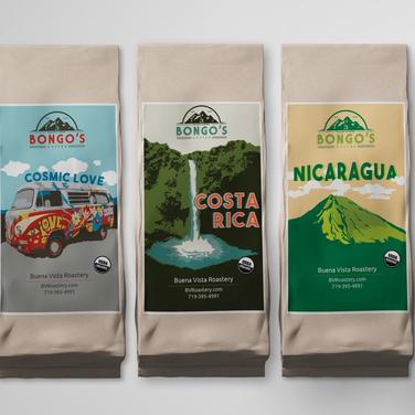 Bongo's Coffee Labels