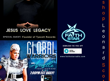 Bishop Leonard Scott, Special Guest tonight on Global Warriors On The Frontline 7PM EST