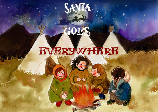 Christmas card - Santa goes everywhere