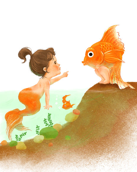 a fish and a girl