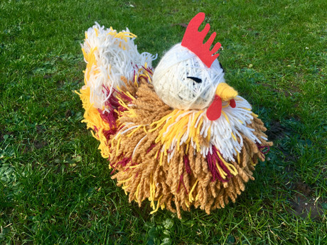 Performance project - Hand made chicken puppet