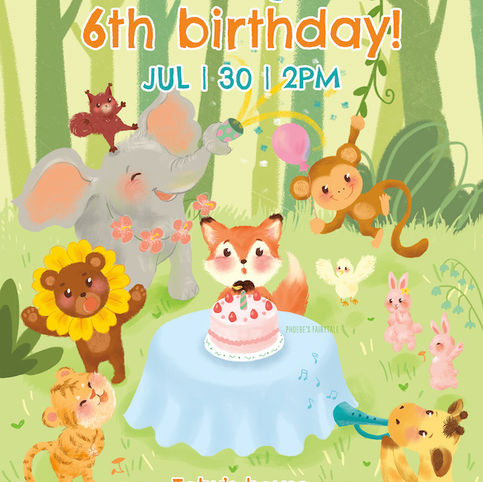 kids birthday party poster template