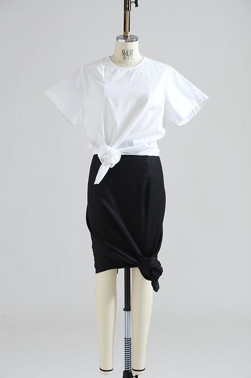 women's knot short sleeve shirt
