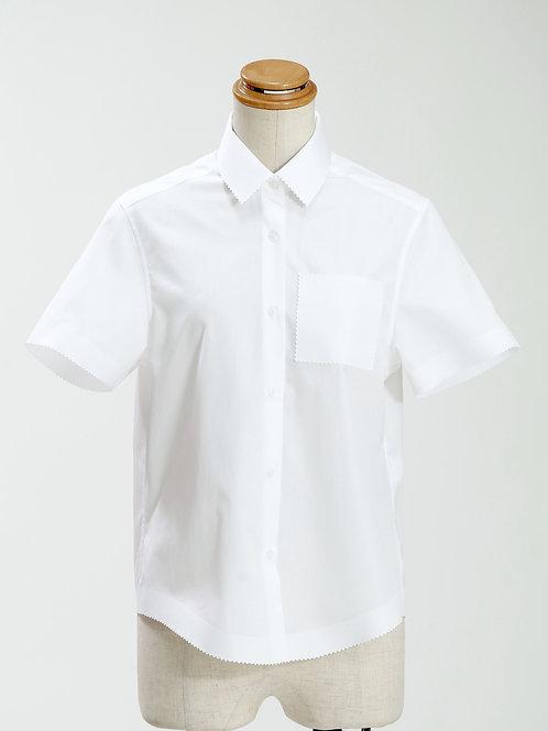 women's zig-zag edge short sleeve shirt