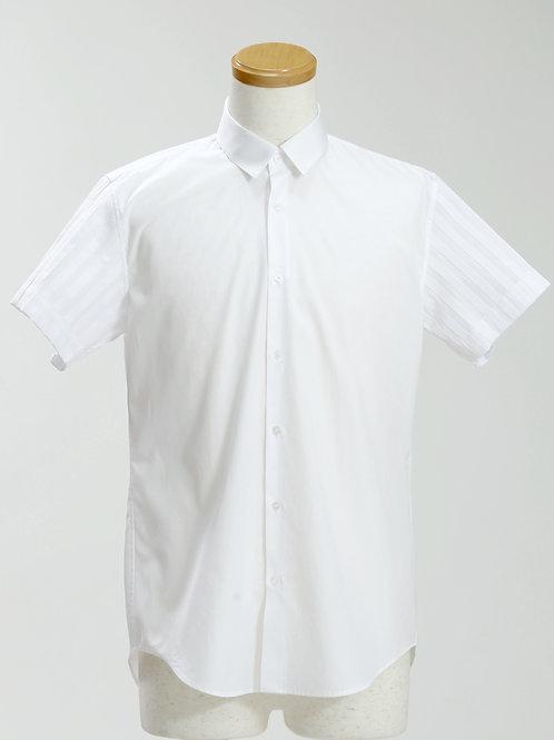 men's grosgrain ribbon striped short sleeve shirt