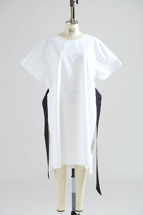 women's oversize dress with grosgrain belt