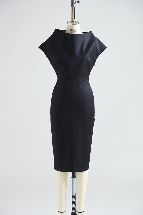 women's high neck dress