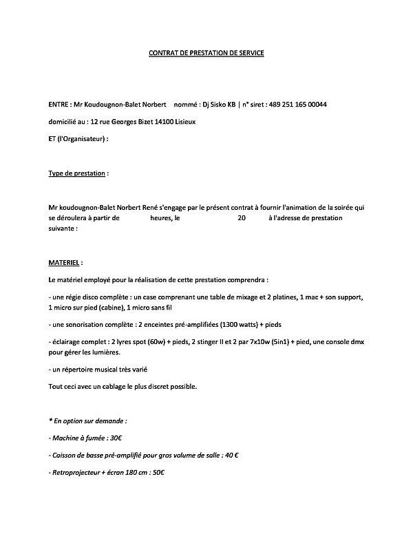 CONTRAT PRESTATION | djnormandie