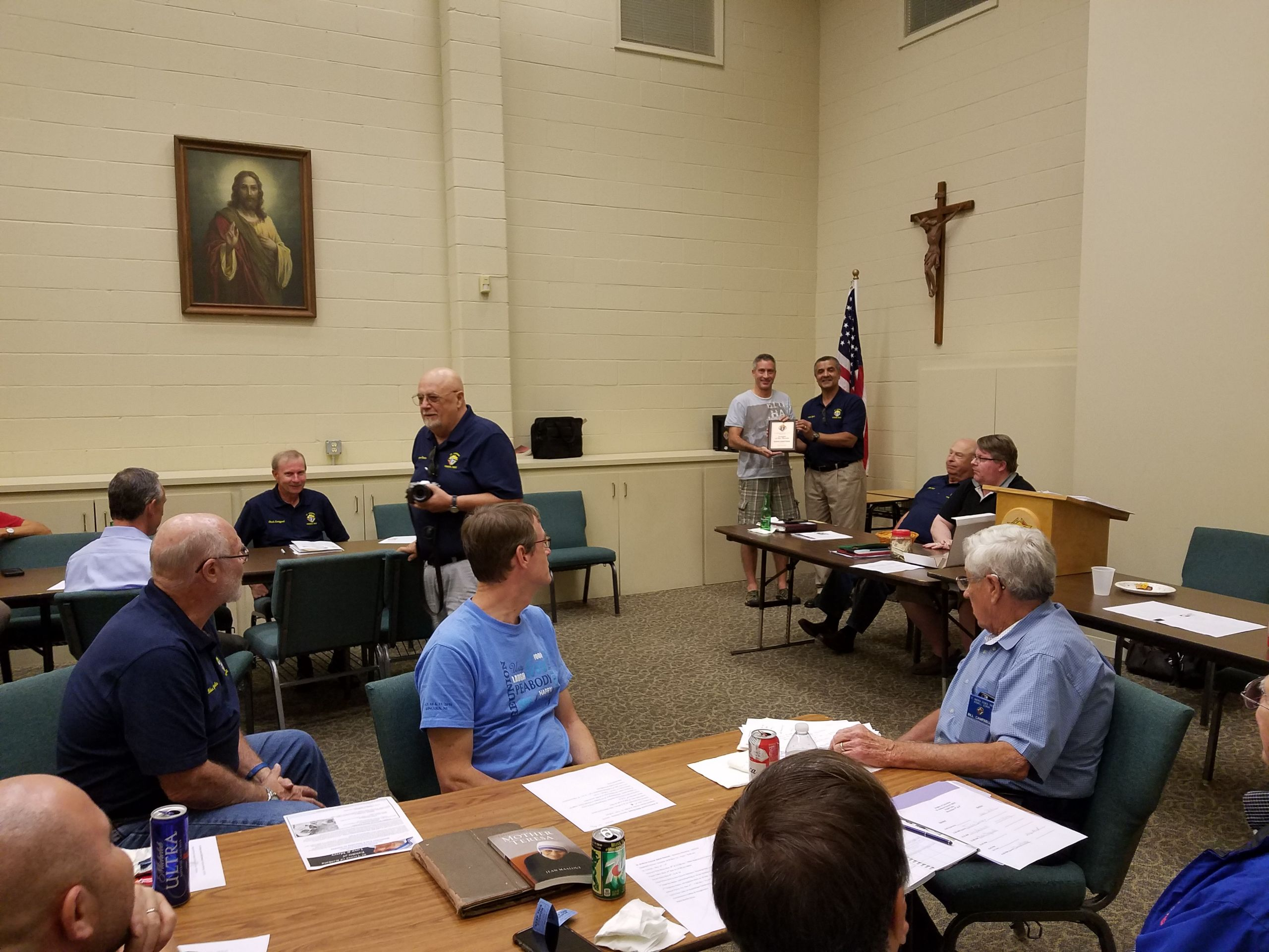 Knights of Columbus meeting.