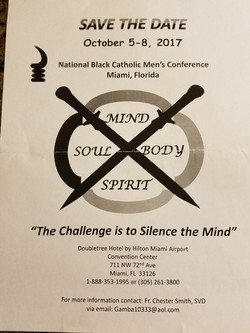 Yearly meeting with black Catholic men 1