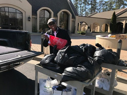 Collecting items from Saint Benedict Catholic church in Atlanta
