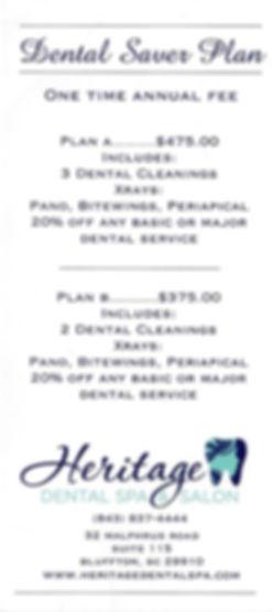 Dental Saver Plan, Dental Insurance Information