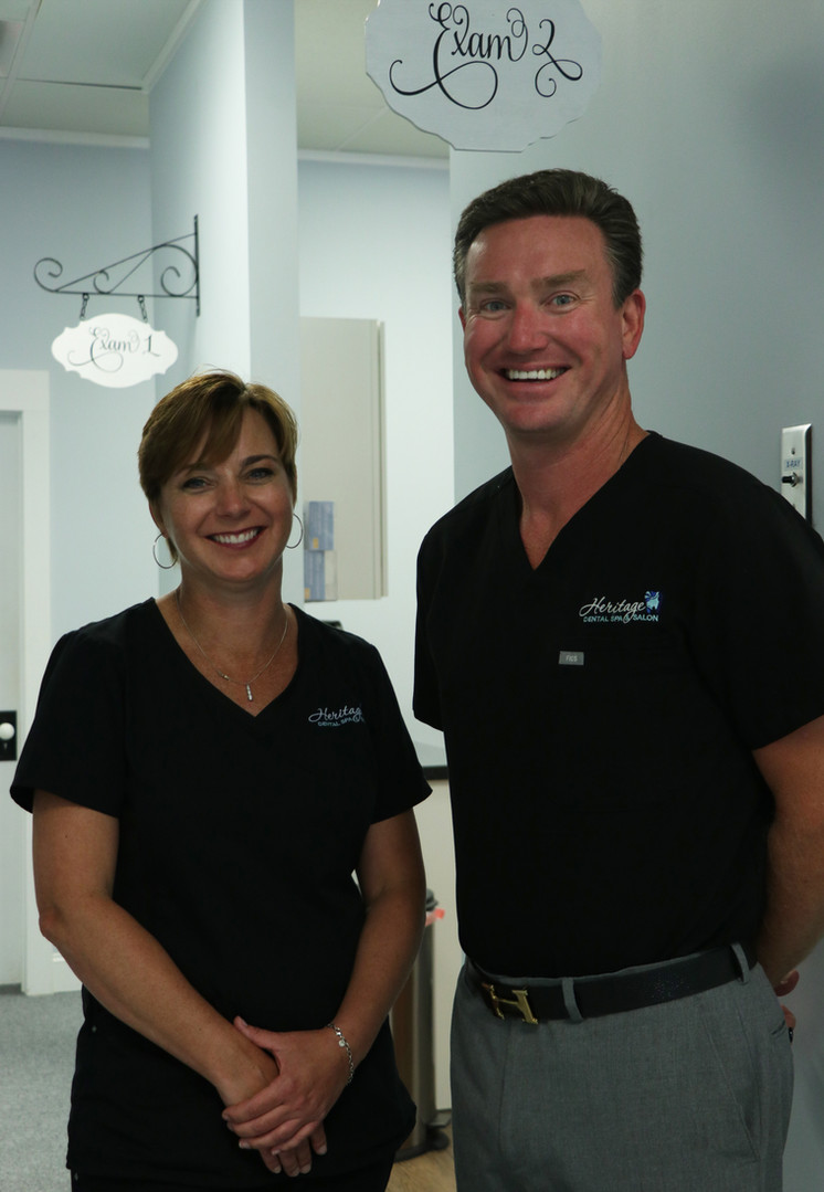 Owners Erika Wynne, RDH, B.S. and Dr. George K. Camp III, DDS