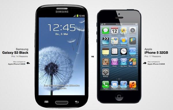 Comparativa galaxy - iphone