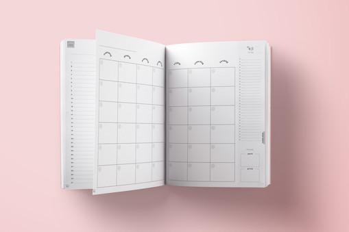 Voorbeeld maandkalender