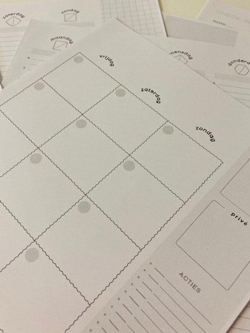 Plan printables pakket