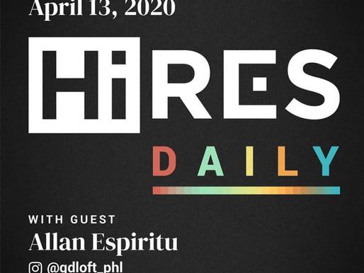 Allan Espiritu on Hi-Res Daily