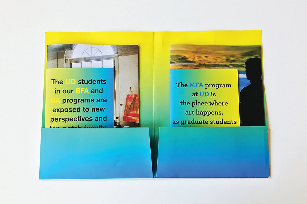 University of Delaware Viewbook Graphic Design GDLOFT