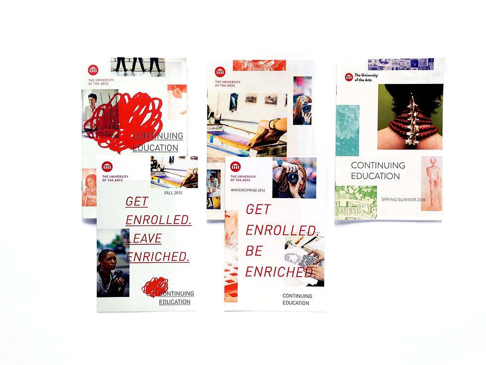 university arts graphic design print materials