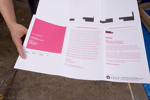AIGA Lecture Series mailer poster graphic design GDLOFT Philadelphia