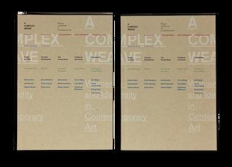 A Complex Weave Exhibition Catalog