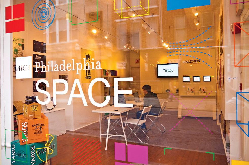 AIGA Philadelphia Space Identity Graphic Design GDLOFT