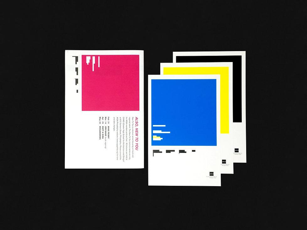 AIGA Philadelphia Lecture Series Promotional Design GDLOFT