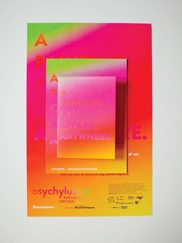 Graphic Design Psychylustro Identity Philadelphia GDLOFT Katharina Grosse Mural Arts