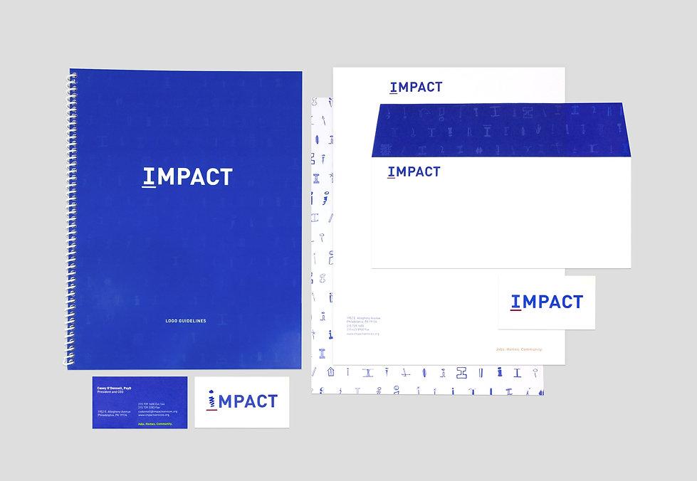 GDLOFT graphic design branding identity IMPACT Services