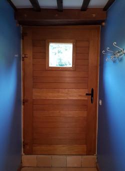 Porte en bois exotique