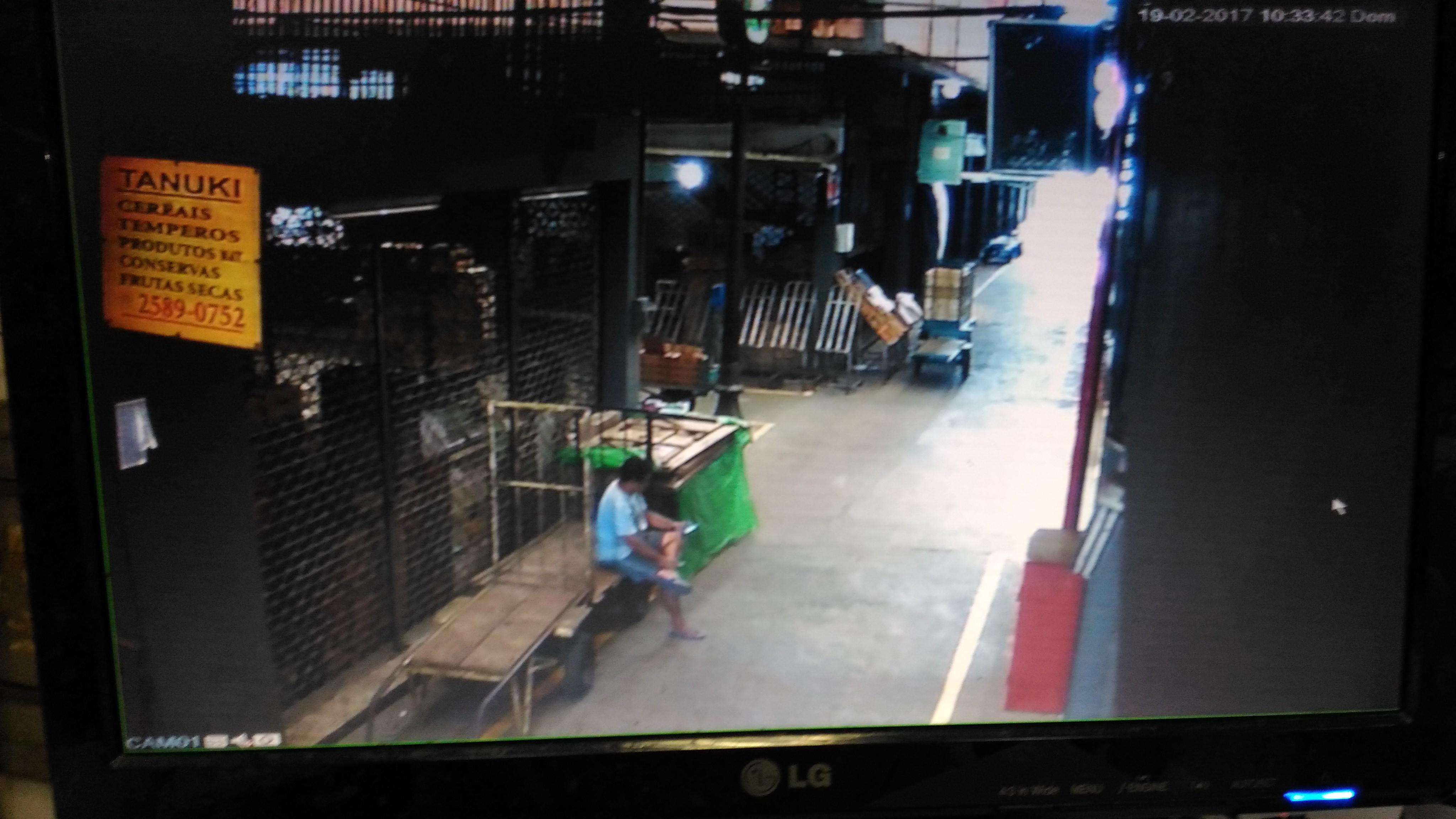 Imagens das câmeras de segurança