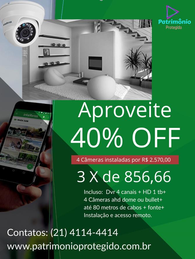 Kit 4 Câmeras de segurança com instalação inclusa no Rio de Janeiro. Oferta Imperdível!!! Preço e qu