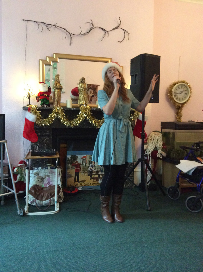 Festivities with singer Rebecca Forrest