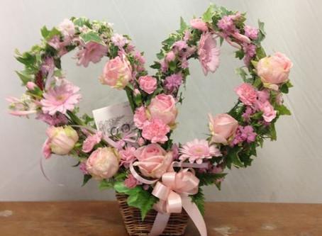 バレンタインデーにはハートのお花を!