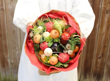 【母の日ギフト】季節の野菜でつくった楽しい食いしん坊のブーケを