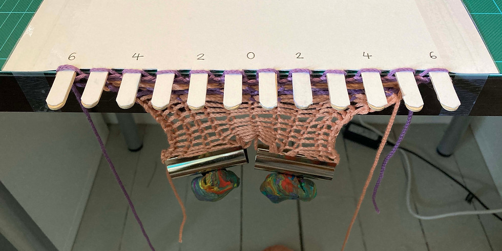 MAKE A HOMEMADE KNITTING MACHINE PART 1 with Elinor Sykes