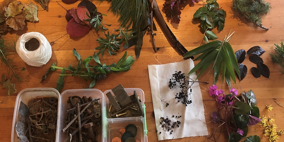 BUNDLE DYEING USING LOCAL FLORA AND FAUNA with Isobel Denton of abitmoreink