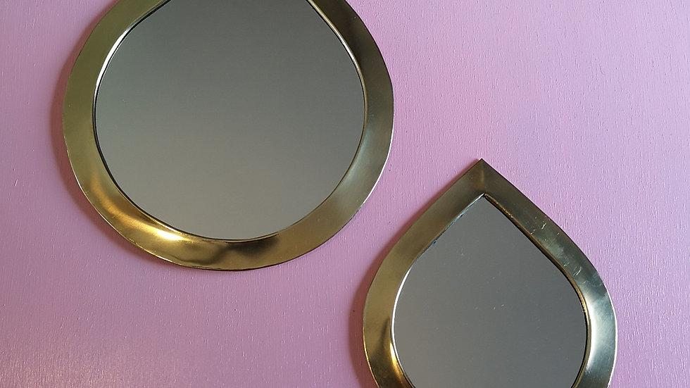 Miroir en laiton goutte