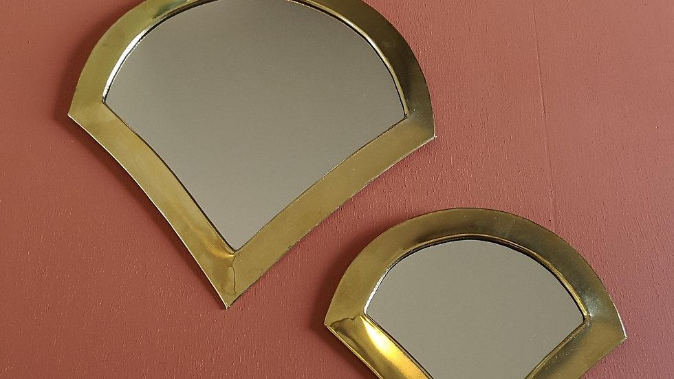 Miroir en laiton plume