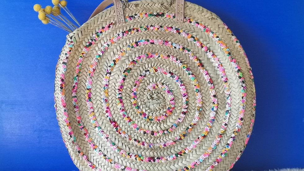 Sac rond Spirale multicolore
