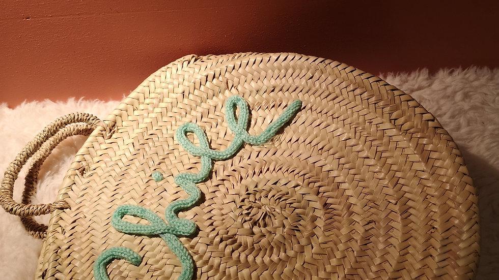 Inscription en laine personnalisée