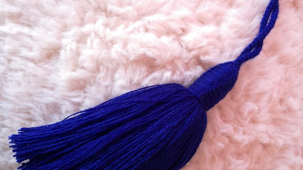 Pompon Beldi en laine Bleu Majorelle